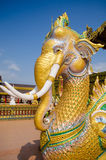 Golden elephat statue Royalty Free Stock Image