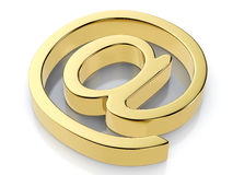 Golden email symbol Stock Image