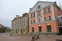 Golden Embankment -residential area in historical place in Pskov Royalty Free Stock Photography