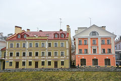 Golden Embankment -residential area in historical place in Pskov Royalty Free Stock Photo