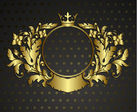 Golden Emblem Cartouche. Stock Image