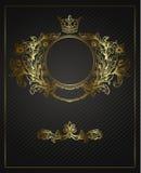 Golden Emblem Cartouche. Stock Photos