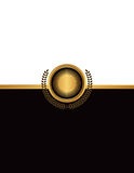 Golden Emblem and Copyspace Illustration Stock Photos