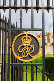 Golden emblem at the fence of the Tower of London in London, UK Stock Photo