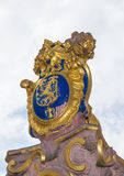 The golden emblem of Hesse in germany, the lion Royalty Free Stock Image
