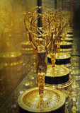 Emmy Award Statues for Television Excellence Stock Images