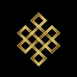 Golden Endless knot. Concept of Karma. Time, spirituality Stock Photography