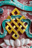 Golden endless knot Royalty Free Stock Images