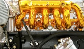 Golden engine Stock Photography