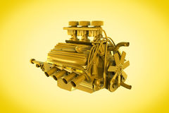 Golden engine Stock Photos