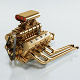 Golden engine Royalty Free Stock Photography