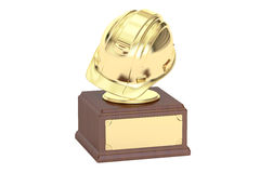 Golden Engineering Award concept, 3D Royalty Free Stock Image