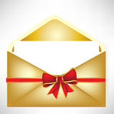 Golden envelope Royalty Free Stock Photo