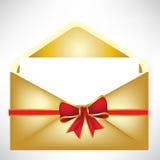 Golden envelope Royalty Free Stock Photo