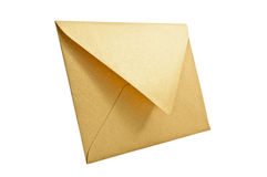 Golden envelope. Stock Photography
