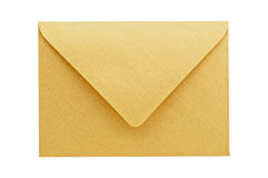 Golden envelope isolated. Royalty Free Stock Photos