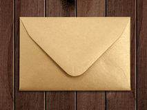 Golden envelope. Royalty Free Stock Photos