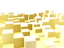 Golden equalizer bars Stock Photography