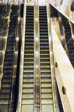 Golden escalator  Royalty Free Stock Photos