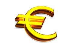 Golden euro Royalty Free Stock Photo