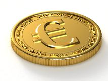 Golden Euro Royalty Free Stock Images