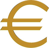 Golden euro Royalty Free Stock Photo