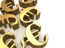 Golden euro Stock Photo