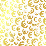 Golden euro background Stock Photos