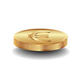 Golden euro coin Stock Photos