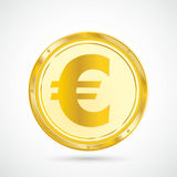 Golden Euro Coin Royalty Free Stock Photos