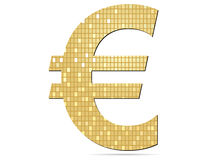 Golden euro icon Royalty Free Stock Images
