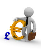 Golden Euro icon, 3d rendering Royalty Free Stock Images