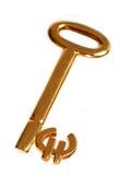 Golden euro key Royalty Free Stock Photos