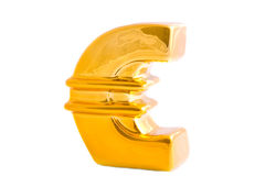 The golden euro logo Stock Photo