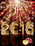 Golden euro 2016 new year background. Vector illustration Royalty Free Stock Image