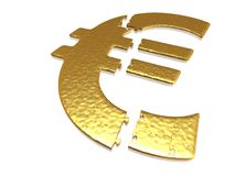 Golden euro puzzle Stock Photography
