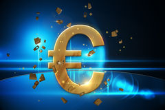 Golden euro sign Royalty Free Stock Photos