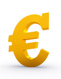 Golden Euro sign Royalty Free Stock Photos