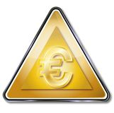 Golden euro sign. And big money Royalty Free Stock Image