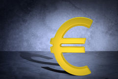 Golden euro sign Royalty Free Stock Image