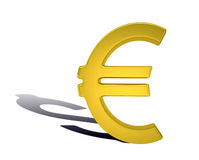 Golden euro sign Stock Images