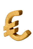 Golden Euro Symbol Stock Image