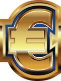 Golden Euro Symbol. Vector illustration Royalty Free Stock Image