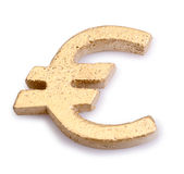 Golden Euro symbol Royalty Free Stock Photo