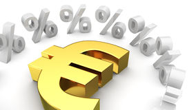 Exchange rate of euro Stock Photography
