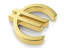 Golden euro symbol Royalty Free Stock Photography