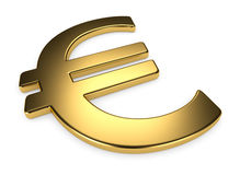 Golden euro Royalty Free Stock Photos