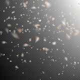 Golden explosion of confetti. EPS 10 Stock Photography