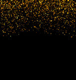 Golden Explosion of Confetti Royalty Free Stock Photo