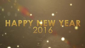 Golden explosion sparkling, holiday new year celebration happy new year 2016 stock video